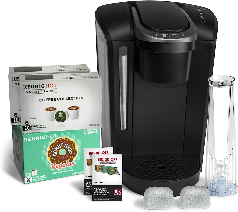 Keurig K-Select B Single Serve Coffee Maker with 24 K-Cups 2 Water Filter Cartridges – Black