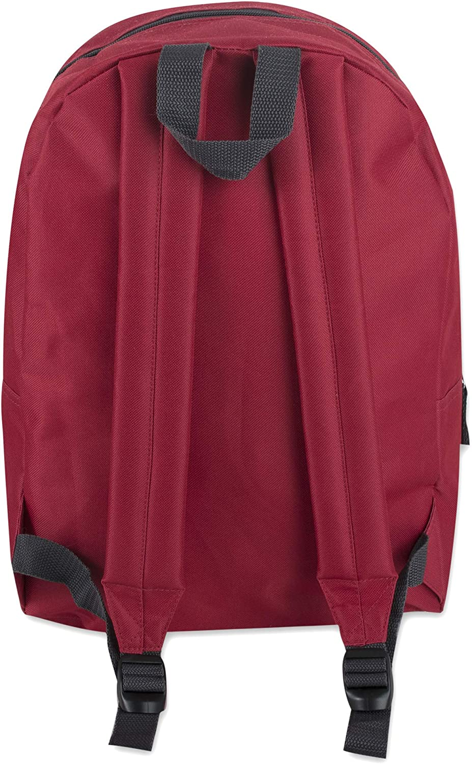 Trailmaker Classic 17 Inch Backpack with Adjustable Padded Shoulder Straps (Red): Clothing