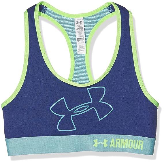 865032d4ea Amazon.com  Under Armour Kids Womens Logo Armour Bra (Big Kids)  Sports    Outdoors
