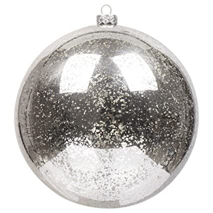 ki store large christmas ball ornaments silver oversize decorative hanging ornament mercury balls 8 inch oversize - Large Christmas Balls