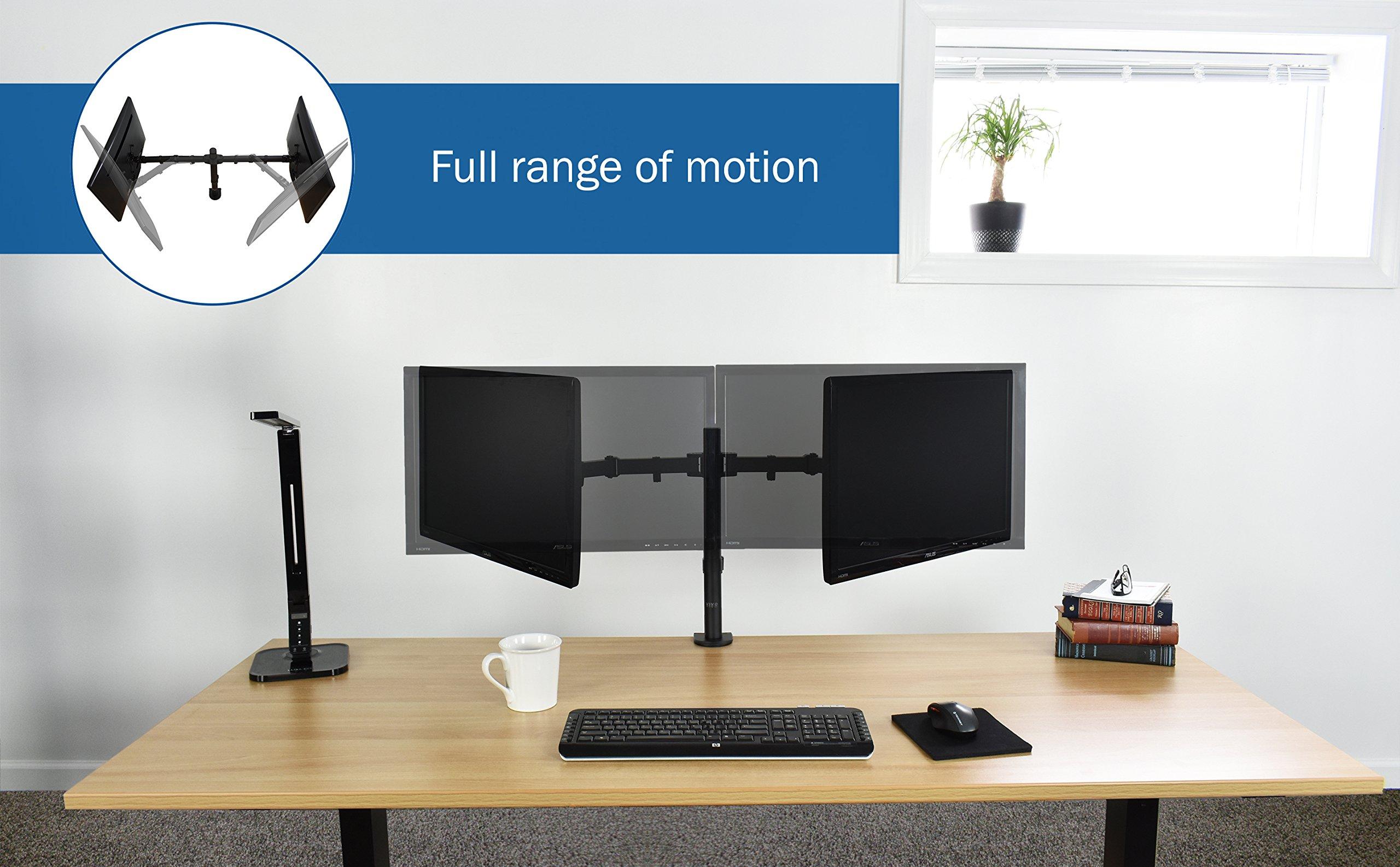 Vivo Dual Lcd Led Monitor Desk Mount Stand Heavy Duty