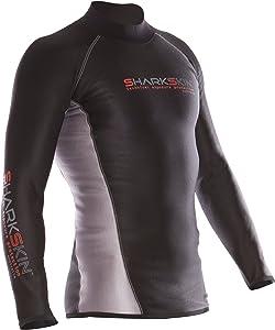 Sharkskin Mens Chillproof Long Sleeve, Black