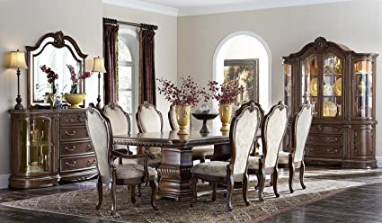 AICO Bella Veneto Casual Dining Room Set With Dining Table, 4 X Side Chair  And