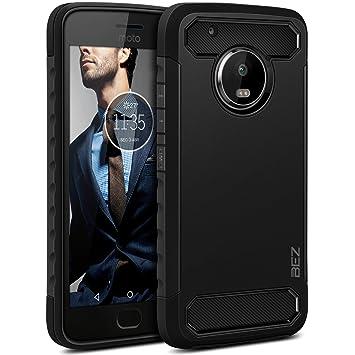 BEZ Funda Moto G5 Plus, Carcasa Compatible para Motorola Moto G5 Plus Ultra Híbrida Gota Protección, Cover Anti-Arañazos con Absorción de Choque ...
