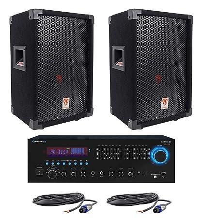 Amazon com: 2 Rockville RSG8 8 300W Passive DJ/PA Speakers+