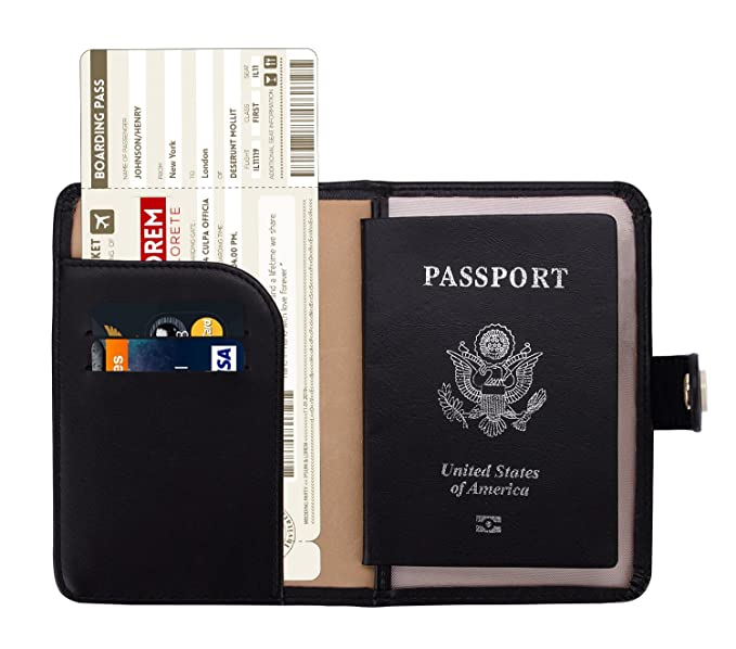 cheap for discount 68bac 48ba3 Zoppen Rfid Blocking Travel Passport Holder Cover Slim Id Card Case