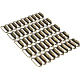 WEICHUAN 50 Pieces 69mm29mm Card Holder Drawer Pull/Label Frames Card/Label Holder/Tag Pull/Cabinet Frame Handle/File Name Card Holder - Metal Art Bronze Tone with screws