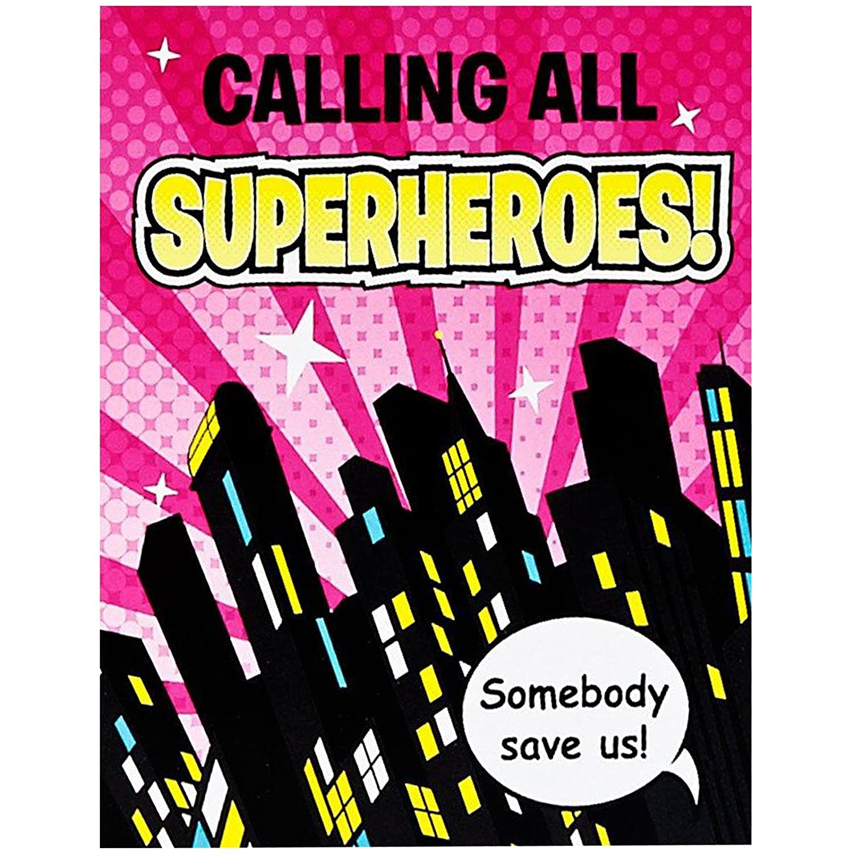 Amazon.com: Superhero Girl Party Supplies - Invitations: Toys & Games