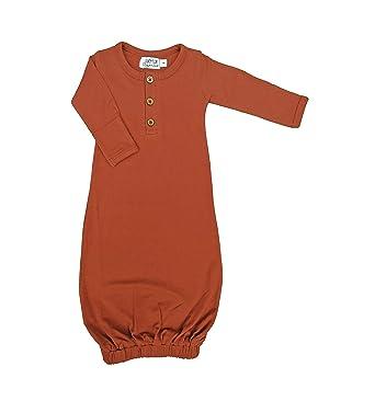 ff1bc70c5 Amazon.com: Lucy Lue Organics, Unisex-Baby Organic Baby Gown, Rust ...