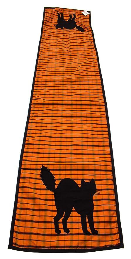 Halloween gato negro silueta camino de mesa 16 en X 72 en color ...