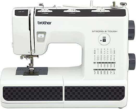 Brother HF27 - Máquina de Coser Acero Inoxidable, 44 x 20 x 33 cm, Color Negro/Blanco: Amazon.es: Hogar