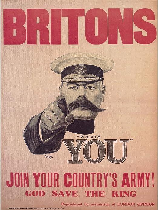 large 4 sizes available-War 39 Vintage British War propaganda print poster