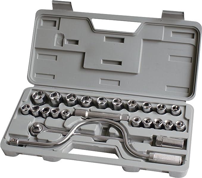 Amtech I0600 52pc 1//4 And 1//2 Socket Set