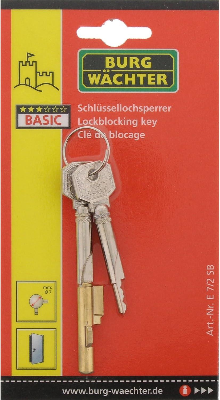 2 Schlüssel NEU Burg Wächter Zylinder-Schlüssellochsperrer für Möbelschlösser m