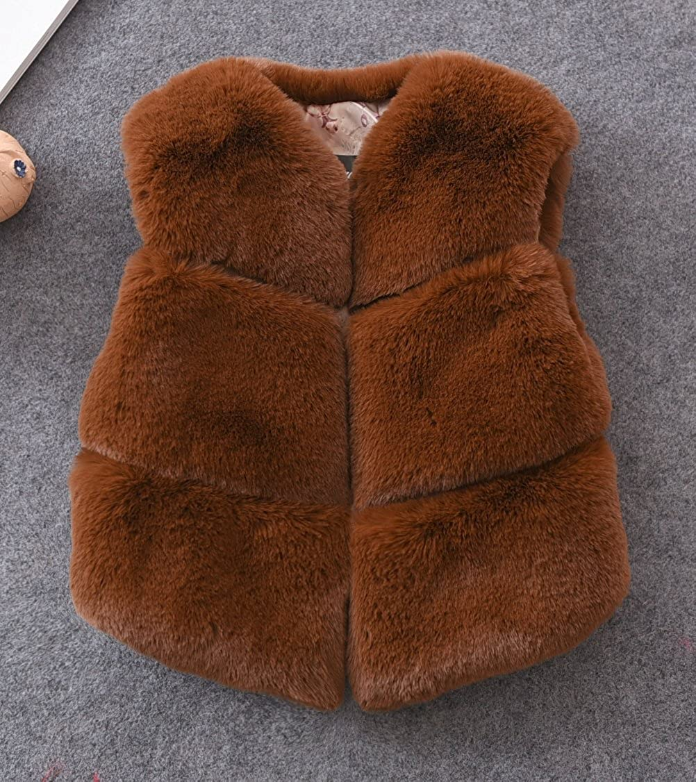 FOLOBE Child Faux Fox Fur Vest