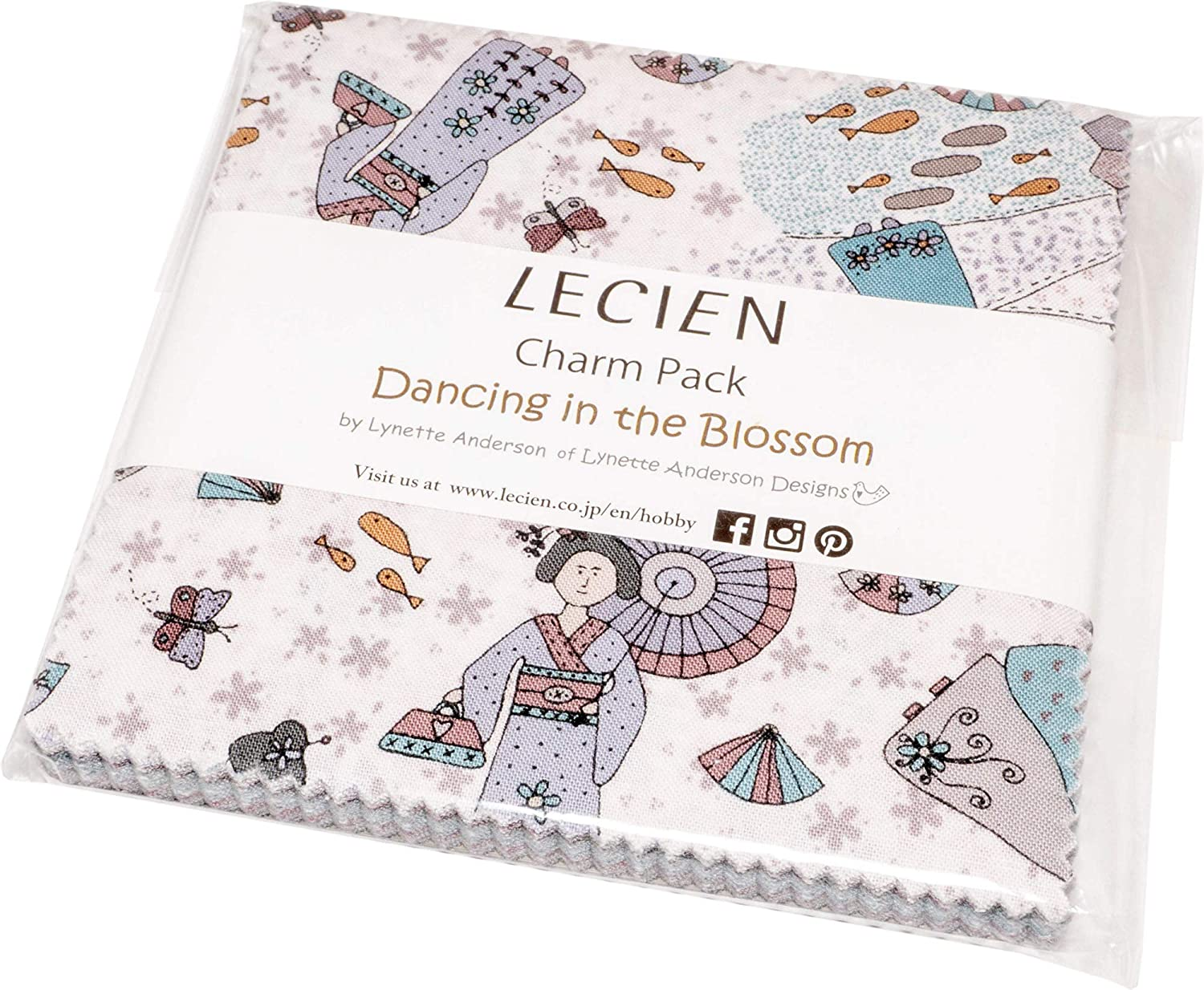 Lynette Anderson Dancing in The Blossom Charm Pack 42 5-inch Squares Lecien