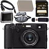 Fujifilm X100F Digital Camera (Black) 16534651 + NP-W126 Lithium Ion Battery + Sony 32GB SDHC Card + Micro HDMI Cable + Memory Card Wallet + Card Reader + Hand Strap Bundle