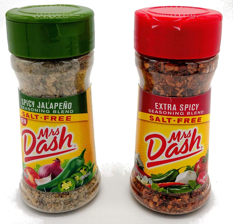 Mrs. Dash Salt Free Seasoning Extra Spicy and Jalapeno Flavor Bundle