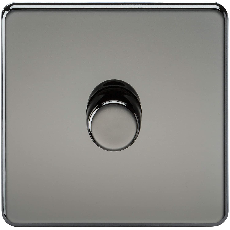 Polished Chrome Knightsbridge SF3000PC Screwless 10 A 2-Gang 2 Way Switch