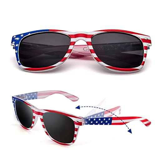 864007982bc97 Amazon.com  GLADVISION Polarized Classic American Flag USA Patriot ...