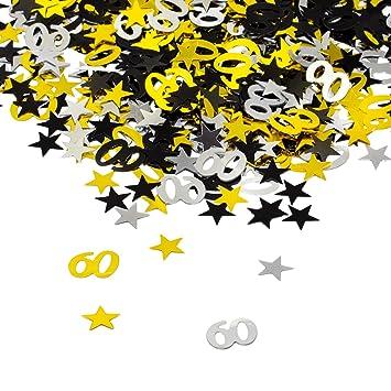 Oblique Unique 60 Geburtstag Jubilaum Konfetti Gold Silber Schwarz