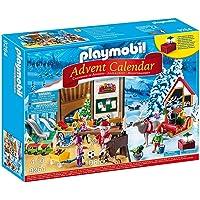 PLAYMOBIL Calendario de Adviento-9264 Taller de Navidad, Multicolor