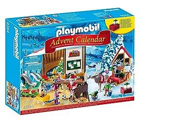 Calendrier L Avent Playmobil.Playmobil Calendrier Avent Fabrique Du Pere Noel 9264