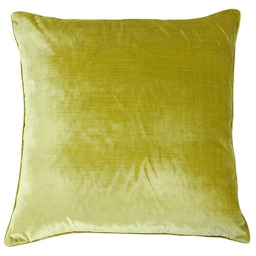 Gran lujo terciopelo Feel funda para cojín en color amarillo ...
