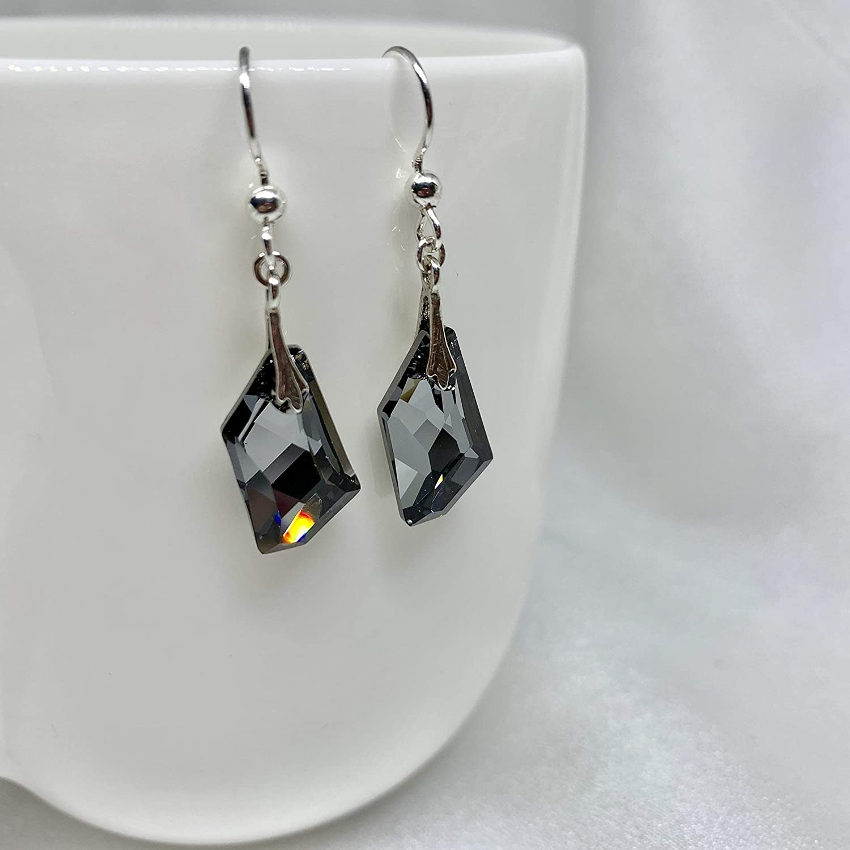 7016ba94b Swarovski Silver Night Black/Dark Grey Deco Art Crystal Earrings and  Necklace Set: Amazon.ca: Handmade