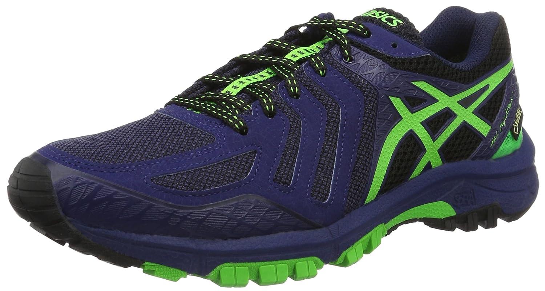 Asics Gel-FujiAttack 5 G-TX, Zapatillas de Running para Asfalto para Hombre 42.5 EU Negro (Black/Green Gecko/Blue)