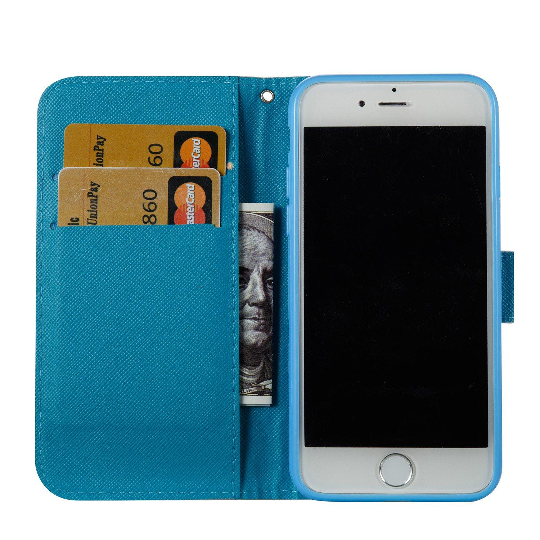Felfy Kompatibel mit H/ülle iPhone 7//8 Tasche Leder Flip Wallet Cover PU Lederh/ülle Magnetic Buckle Handyh/ülle Ledercase Eule Niedlich Muster Tasche H/üllen Brieftasche Lederh/ülle,EINWEG Verpackung