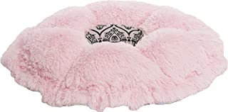 product image for BESSIE AND BARNIE Ultra Plush Bubble Gum/Versailles Pink (Patch) Luxury Shag Deluxe Dog/Pet Cuddle Pod Bed