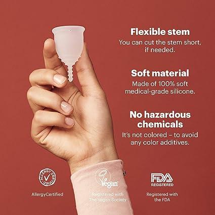 OrganiCup - Taza menstrual de tamaño B.