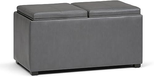 Simpli Home Avalon 35 inch Wide Rectangle 5 Pc Storage