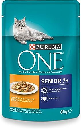 Purina One Gato húmedo Forro Senior 7 +, con Pollo y Granos Verdes ...
