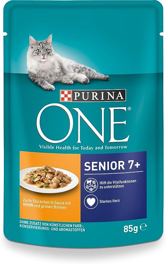 Purina One - Alimento para Gatos, Rico en vitaminas y minerales, 24 Unidades (24 Bolsas de 85 g): Amazon.es: Productos para mascotas