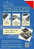 Frisk Tracedown Lot de 5 blocs de papier calque Rouge Format A3
