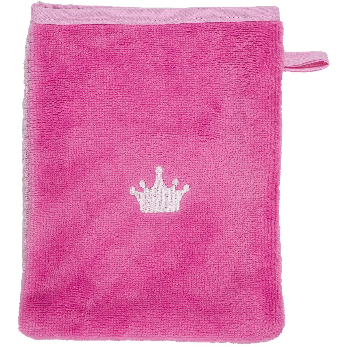 von Smithy Waschhandschuh Motiv KRONE Farbe pink Waschlappen M/ädchen