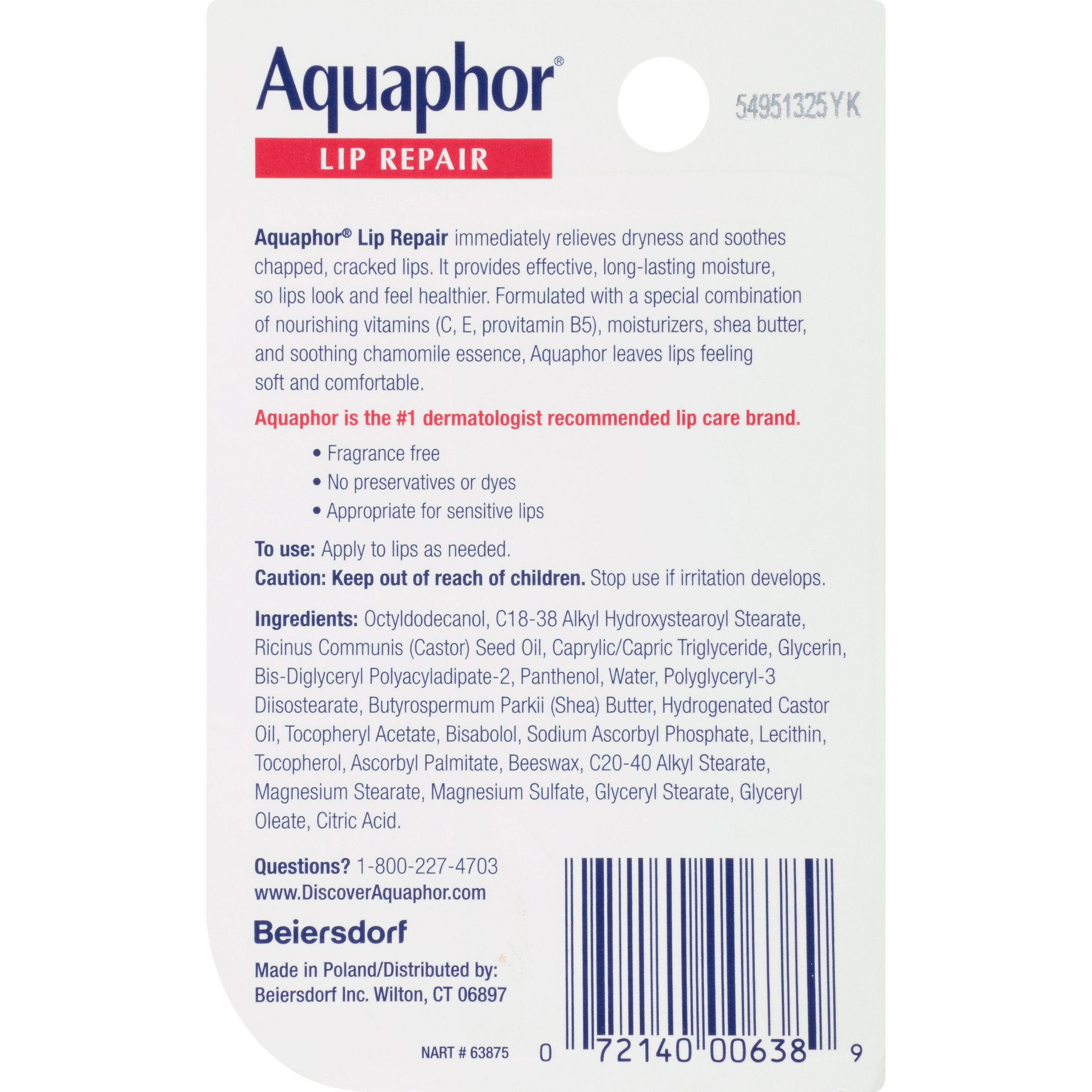 Aquaphor Lip Repair .35 Fluid Ounce Carded Pack by Aquaphor (Image #2)