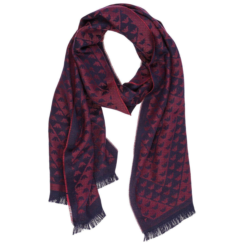 aspetto dettagliato qualità affidabile miglior grossista Emporio Armani men's wool scarf red: Amazon.co.uk: Shoes & Bags