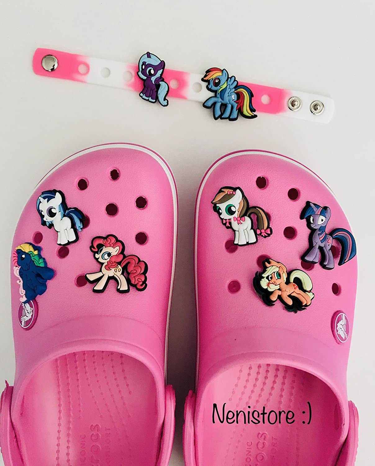 Jibbitz Charms Plug Accessories for Crocs /& Bracelet Wristband Party Gifts Cute Shoe Charms for Crocs Shoes by Nenistore