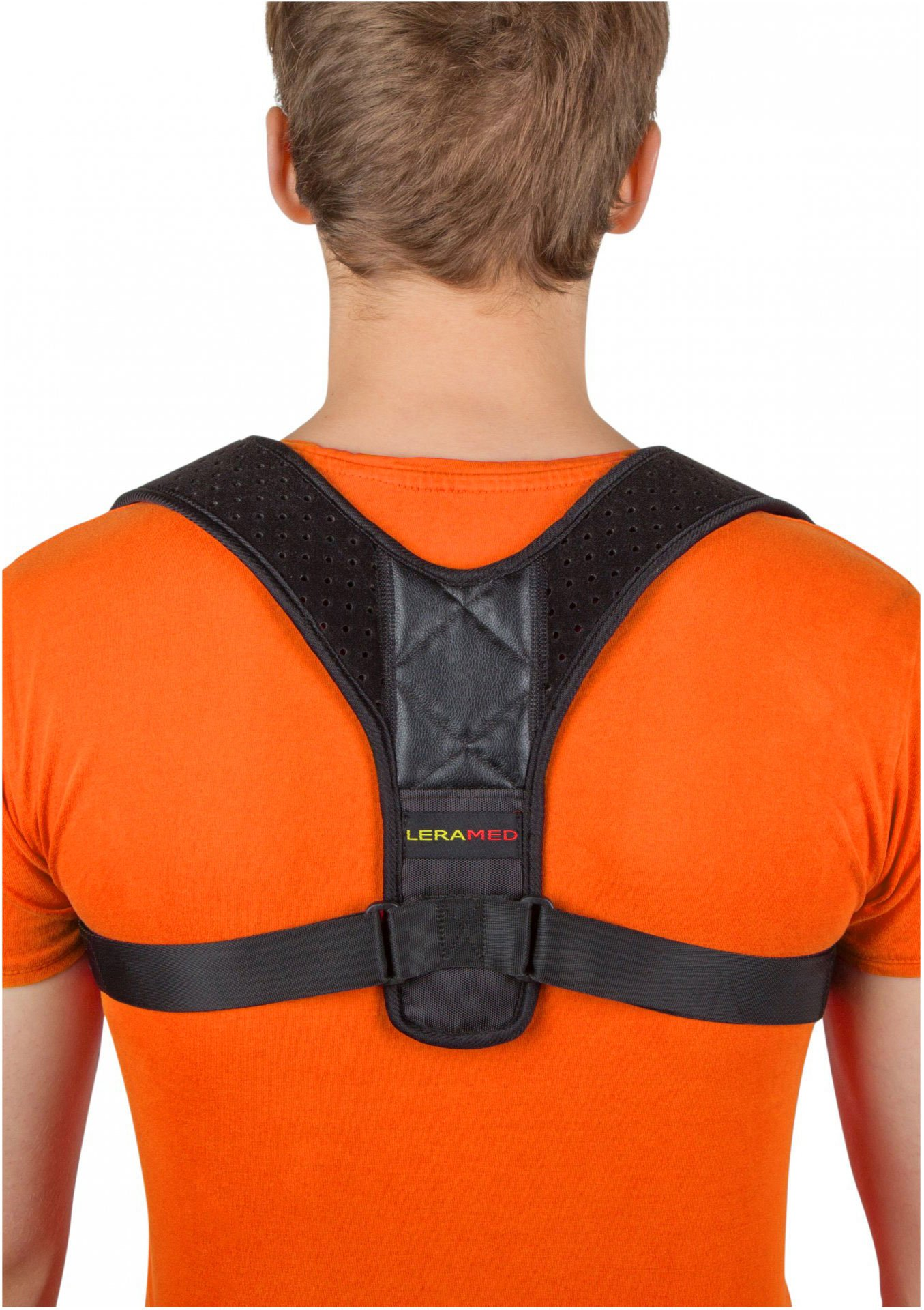 Leramed Posture Corrector for Women and Men - Back Brace, Effective Comfortable Adjustable Posture Correct Brace, Support, Kyphosis Brace, Muscle Pain Reliever, Back Pain Reliever