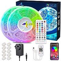 24M/78.7Ft Bluetooth Led Strip Light,ALED LIGHT Music Sync Flexible Color Changing RGB 5050 12V Rope Light Strips Kit…
