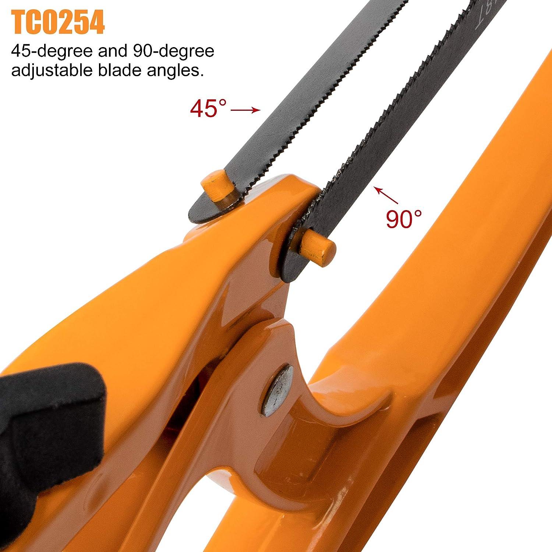 6/'/' Hacksaw Frame and 10 Mini Hacksaw Wood BEETRO Hacksaw Frame Set PVC Pipes Handsaw for Metal Including Six Extra Blades 12/'/' Hacksaw Frame