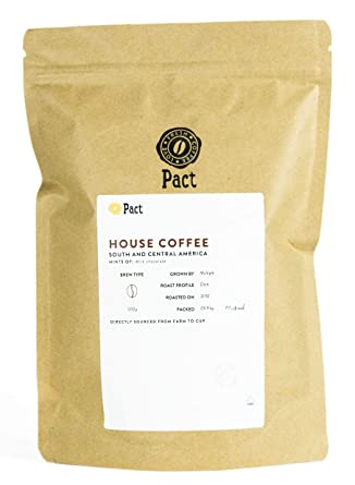 Pact Coffee House Coffee Blend Freshly Roasted Dark And Rich Roast Ideal Filter Coffee 500g Wholebeans