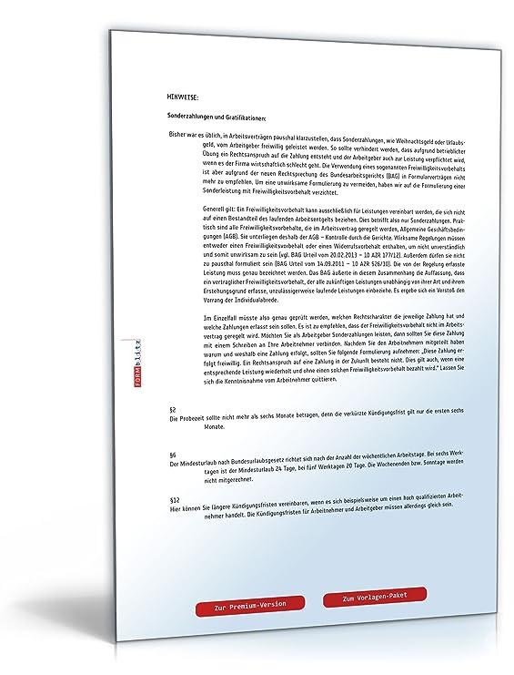 Arbeitsvertrag Muster Kostenlos Zum Download Download Amazonde