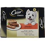 Cesar Classics chien plateaux sélection mixte, 8 x 150 g par unité, lot de 3