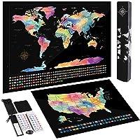 TOBEHIGHER Sctratch Off World Map