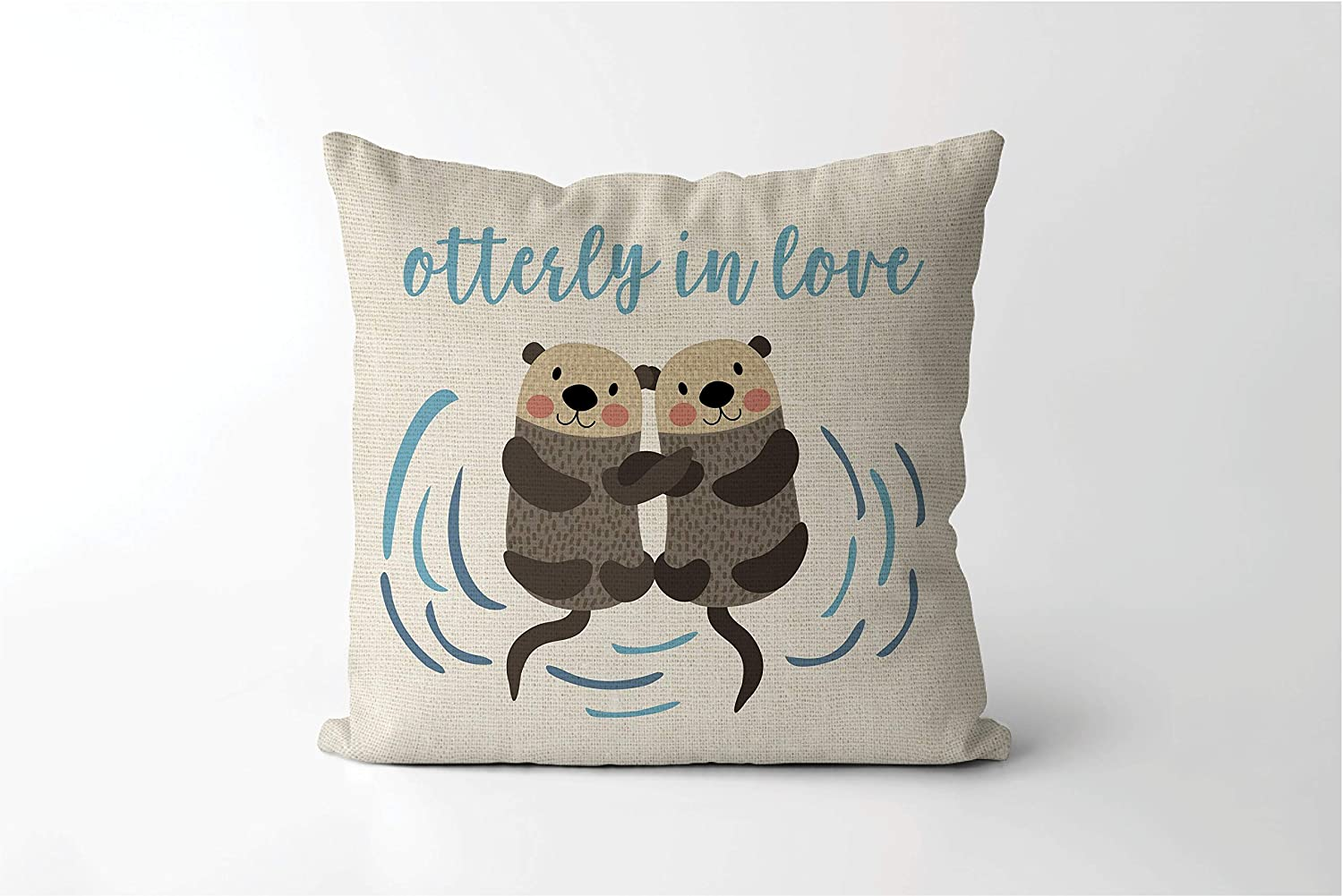 Otterly in Love Pillowcase Valentines Gift for Boyfriend Valentines Day Decor Otter Decor Otter Valentine Valentines Gift for Wife