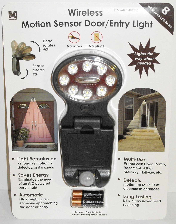 amazoncom megabrite wireless motion sensor doorentry light with 3 aa batteries home improvement